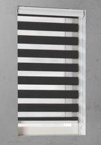 Pure Living - Duo Rolgordijn Lichtdoorlatend - 190x175 cm - Zwart
