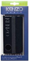 Kenzo - zwart lederen moleskin booktype hoes - iPhone 5 / 5s