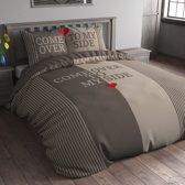 Sleeptime Come Over - Dekbedovertrek - Eenpersoons - 140x200/220 cm + 1 kussensloop 60x70 cm - Taupe