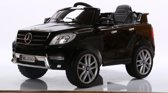 ML 350 Elektrische accu voertuig / kinder auto met Mp3 + Afstandsbediening, Led-verlichting, lederen zetel, ZWART