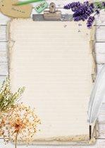 Schrijfblok Garden - 50 vel A4 formaat gelinieerd papier