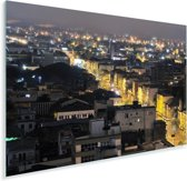 Gele lichtjes in het straatbeeld van Porto Alegre Brazilië Plexiglas 180x120 cm - Foto print op Glas (Plexiglas wanddecoratie) XXL / Groot formaat!