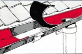 Dak reparatie tape 100 mm 10 m koperkleurig zelfklevend