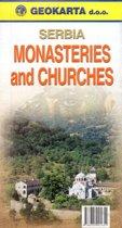wegenatlas - wegenkaart Servie met Kerken en Kloosters