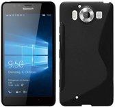 Microsoft Lumia 650 Smartphone hoesje Silicone Case Zwart
