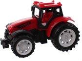 Jonotoys Tractor Super Farm 9 Cm Rood