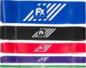 Pull up band weerstandsbanden fitness set van 5 - Weerstandsband elastiek heavy medium and light  - Resistance bands power workout gear crossfit gewichtheffen - inclusief 2 jaar garantie