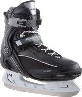Nijdam 3350 IJshockeyschaats - Semi-Softboot - Zwart/Wit - Maat 40