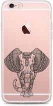 iPhone 6/6S Hoesje Elephant Mandala Black