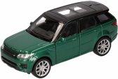 Speelgoed modelauto groene Range Rover Sport auto 1:36