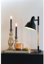 Bureaulamp zwart rond