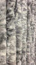 Vliegengordijn Kattenstaart Grijs Wit Gemeleerd 90x220cm