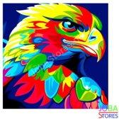 """Diamond Painting """"JobaStores®"""" Gekleurde Adelaar - volledig - 30x30cm"""