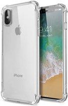 iPhone X/XS Transparant TPU Silicone Case met verstevigde randen