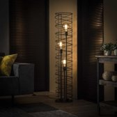 Vloerlamp Swurl 3-lichts charcoal
