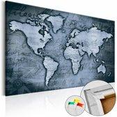 Afbeelding op kurk - Sapphire World , wereldkaart