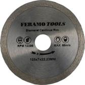 FeramoTools Diamantzaag Harde Tegels & Graniet PRO – 125mm, asgat 22,23mm