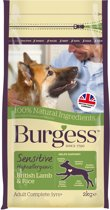 Burgess dog sensitive brits lam / rijst hondenvoer 2 kg