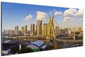 Skyline Sao Paulo Aluminium 30x20 cm - klein - Foto print op Aluminium (metaal wanddecoratie)