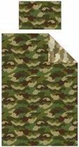 1 persoons Dekbedovertrek Camouflage leger groen
