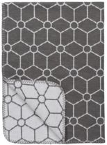 Meyco Honeycomb bio wiegdeken - 75 x 100 cm - grijs