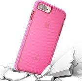 Let op type!! Voor iPhone 8 Plus & 7 Plus & 6 Plus Basketbal Texture Anti-collision TPU beschermende back cover Case (roze)
