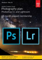 Adobe Creative Cloud Photography plan met 20GB - Student & Docent Editie - 1 Gebruiker - 1 Jaar - Windows / Mac