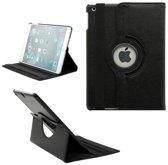 Pearlycase kunstleder tablethoes 360° draaibare bookcase zwart voor Apple iPad Air 2019