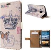 Crown Butterfly Wallet Case HTC One M9
