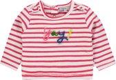 Noppies Meisjes T-shirt met Boxy fit en strepen Rosamond - Bright Red - Maat 68