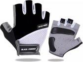 Fietshandschoen met grip zwart M, MTB, ATB, Race, Handschoen
