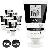 Taft Power Invisible Gel 150 ml - 6 stuks - Voordeelverpakking