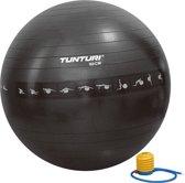 Tunturi Fitnessbal - Gymball - Swiss ball - Ø 90 cm - Anti burst - Inclusief pomp - Zwart
