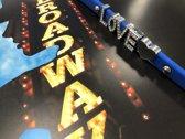 Colori 4 BRA10095 Siliconen Armband met Tekst Love - Zilverkleurig / Donker Blauw