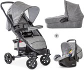 Hauck Malibu 4 Trioset Kinderwagen - Melange Grey