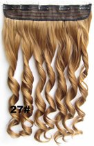 Clip in hairextensions 1 baan wavy blond - 27#