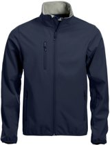 Clique Basic Softshell Jas Heren Donker Navy maat M