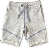 Little Label baby sweat shorts jongens - grey blue neppy