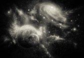 Fotobehang Space Planets   XL - 208cm x 146cm   130g/m2 Vlies