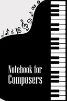 Notebook for Composers: DIN-A5 sheet music book with 100 pages of empty staves for composers and music students to note melodies and music