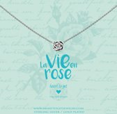 Heart to Get necklace rose, silver, la vie en rosegold plated
