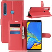 Samsung Galaxy A9 (2018) Hoesje - Book Case - Rood