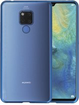 Magnetic Back Cover voor Huawei Mate 20 X Blauw - Transparant