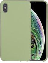 Mobigear Liquid Silicone Groen iPhone Xs Max