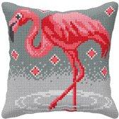 kruissteekkussen 9062 flamingo