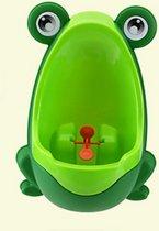 Groene kikker kinderurinoir / Hangend potje voor jongens +/- 8mnd tot 6 jaar / Materiaal: plastic