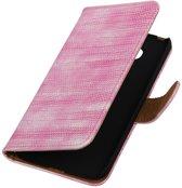 Roze Mini Slang booktype cover hoesje voor LG G5