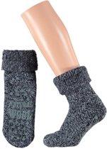 Huissokken met wol met antislip
