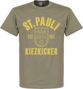 St Pauli Established T-Shirt - Khaki - L