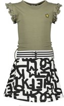 Like Flo Meisjes jurk AO sweat dress with army t dess - Maat 140